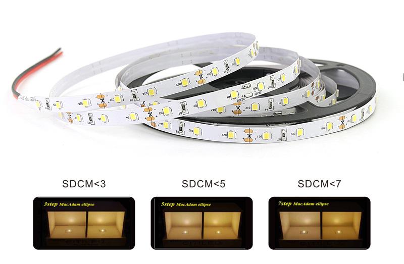 2835 led strip lights color consistency 3 step color tolerance control