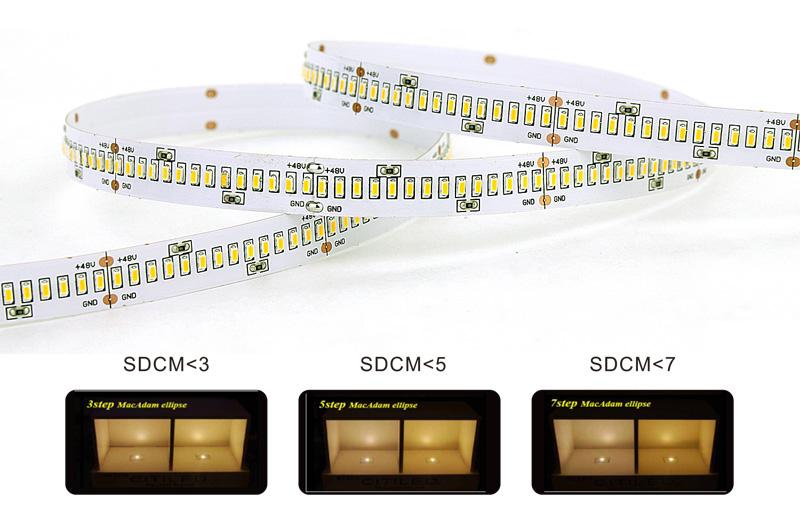 3014 led strip lights color consistency 3 step color tolerance control
