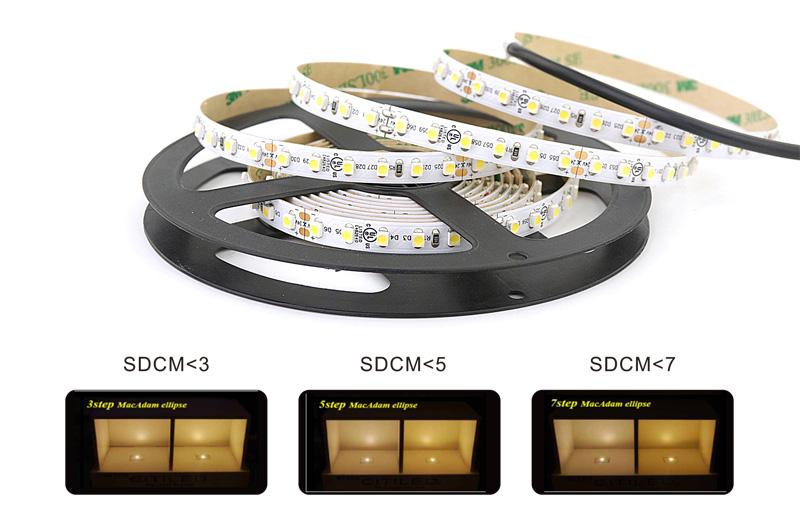 3528 led strip lights color consistency 3 step color tolerance control