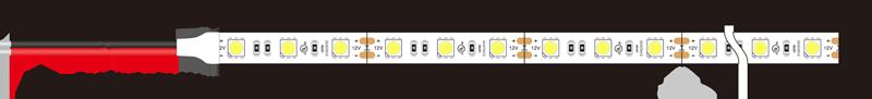 5050 60leds 12v led strip lights dimension