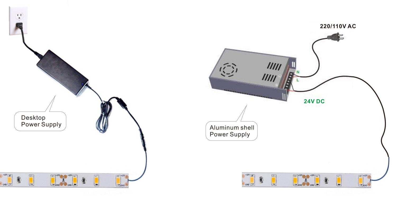 SAMSUNG 5630 led strip lights dimming wiring diagram show