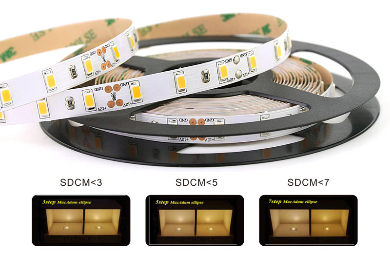 SAMSUNG 5630 led strip lights color consistency 3 step color tolerance control