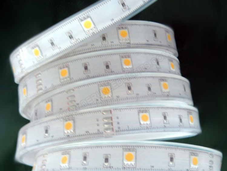 5050 36W 12V 150 Diodes 16.4ft Roll IP67 Silicon Tube Waterproof Led Strip Light_1
