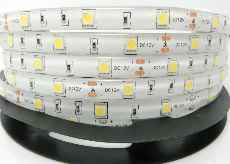 5050 36W 12V 150 Diodes 16.4ft Roll IP65 Silicon Glue Waterproof Led Strip Light_1