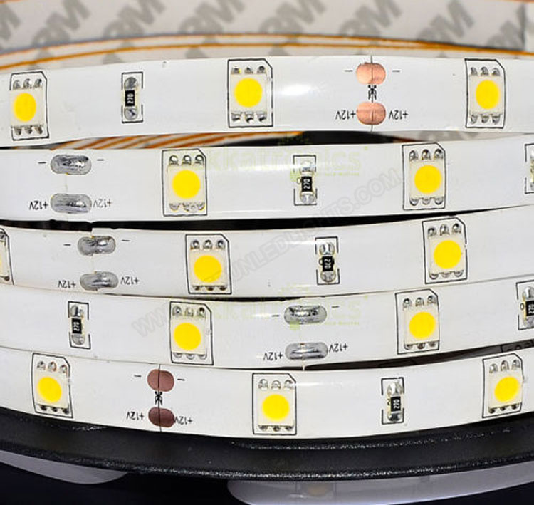 5050 36W 12V 150 Diodes 16.4ft Roll IP65 Silicon Glue Waterproof Led Strip Light_3