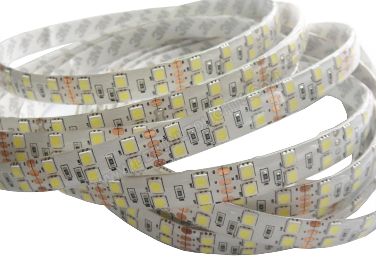 5050 144W 12V 600 Diodes 16.4ft Roll IP65 Silicon Glue Waterproof Led Strip Light_1