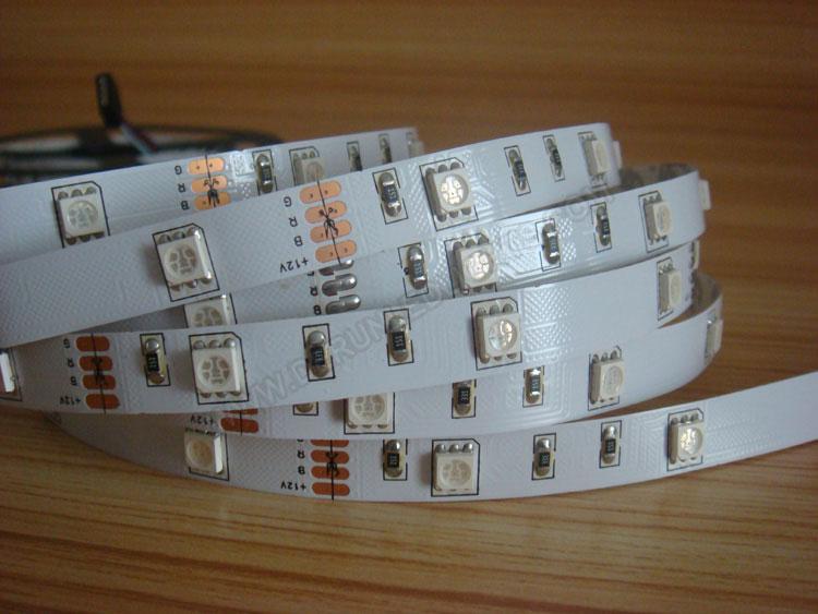 5050 36W 12V 150 Diodes 16.4ft Roll RGB Led Strip Light_4