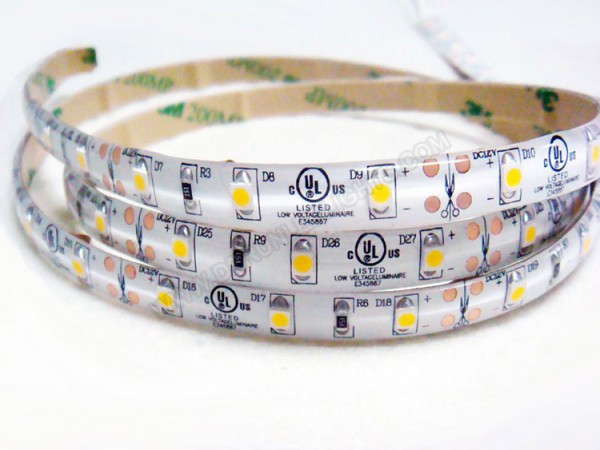 3528 UL Listed IP65 Waterproof LED Strip Light in white color