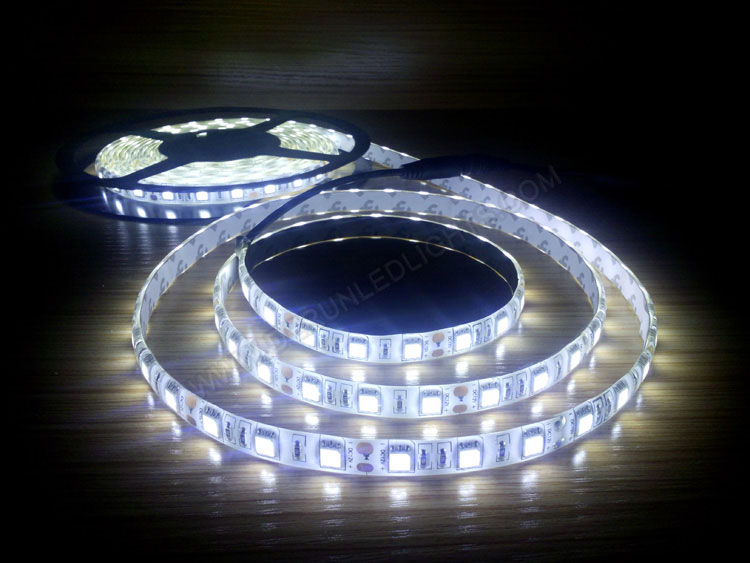 5050 72W 12V 300 Diodes 16.4ft Roll IP65 Silicon Glue Waterproof Strip LED Lighting
