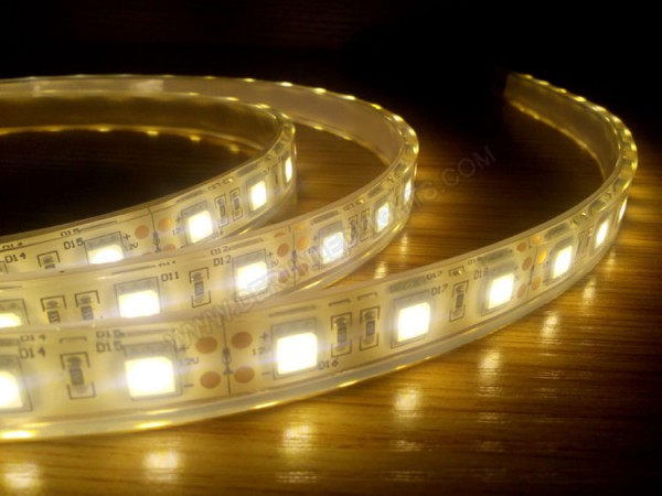5050 72W 12V 300 Diodes 16.4ft Roll IP68 Silicon Filled Waterproof Led Strip Light