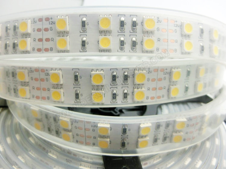 5050 144W 12V 600 Diodes 16.4ft Roll IP67 Silicon Tube Waterproof Led Strip Light_4