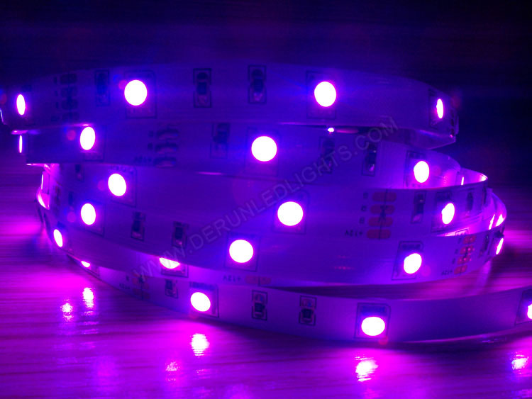 5050 36W 12V 150 Diodes 16.4ft Roll IP65 Silicon Glue Waterproof RGB Led Strip Light_3