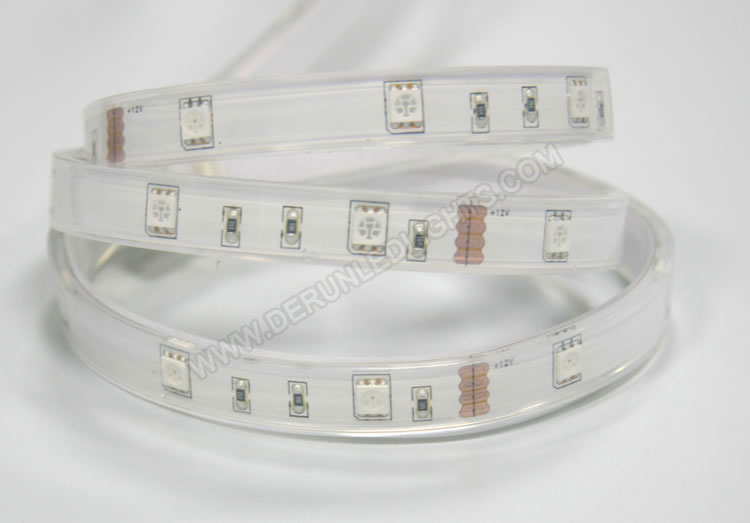 5050 36W 12V 150 Diodes 16.4ft Roll IP67 Silicon Tube Waterproof RGB Led Strip Light_2