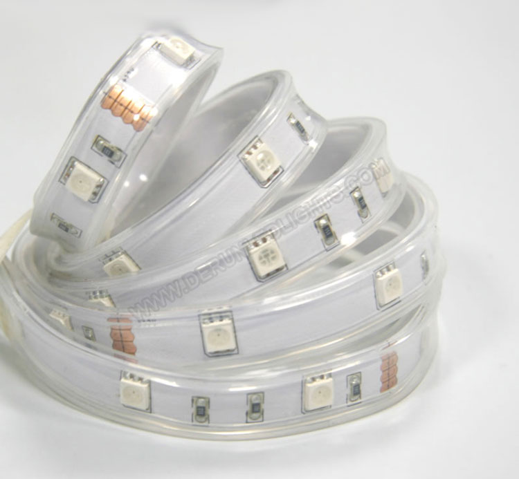 5050 36W 12V 150 Diodes 16.4ft Roll IP68 Silicon Filled Waterproof RGB Led Strip Light_2