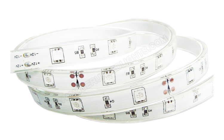 5050 36W 12V 150 Diodes 16.4ft Roll IP68 Silicon Filled Waterproof RGB Led Strip Light_3