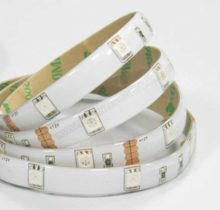 5050 36W 12V 150 Diodes 16.4ft Roll IP65 Silicon Glue Waterproof RGB Led Strip Light