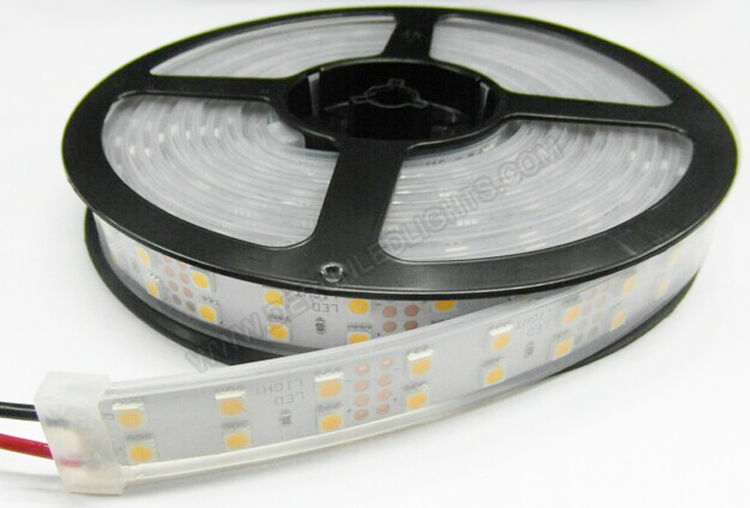 5050 144W 12V 600 Diodes 16.4ft Roll IP67 Silicon Tube Waterproof Led Strip Light_3