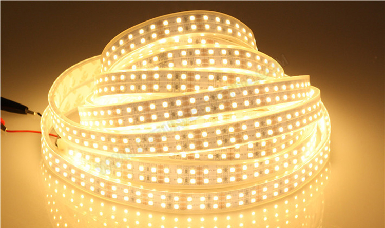 5050 144W 12V 600 Diodes 16.4ft Roll IP67 Silicon Tube Waterproof Led Strip Light_6