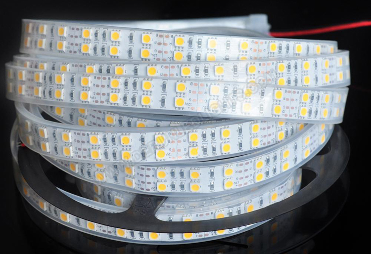 5050 144W 12V 600 Diodes 16.4ft Roll IP67 Silicon Tube Waterproof Led Strip Light_2