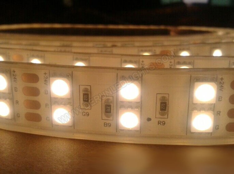 5050 144W 12V 600 Diodes 16.4ft Roll IP68 Silicon Filled Waterproof Led Strip Light_3