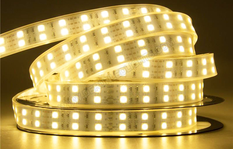 5050 144W 12V 600 Diodes 16.4ft Roll IP67 Silicon Tube Waterproof Led Strip Light_1