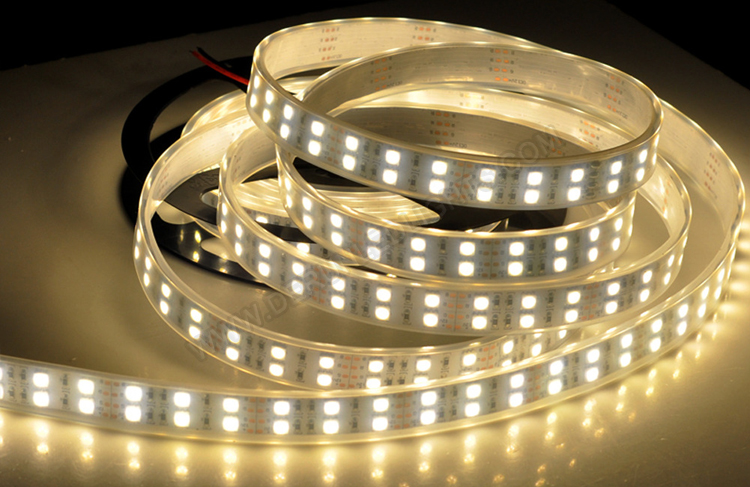 5050 144W 12V 600 Diodes 16.4ft Roll IP67 Silicon Tube Waterproof Led Strip Light_5