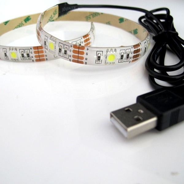 5050 5v 72w 300leds 16 4ft Roll Ip65 Waterproof Strip Led Lighting With Usb Cable