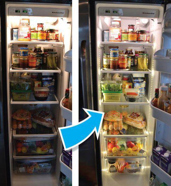 led refrigerator install led strip light