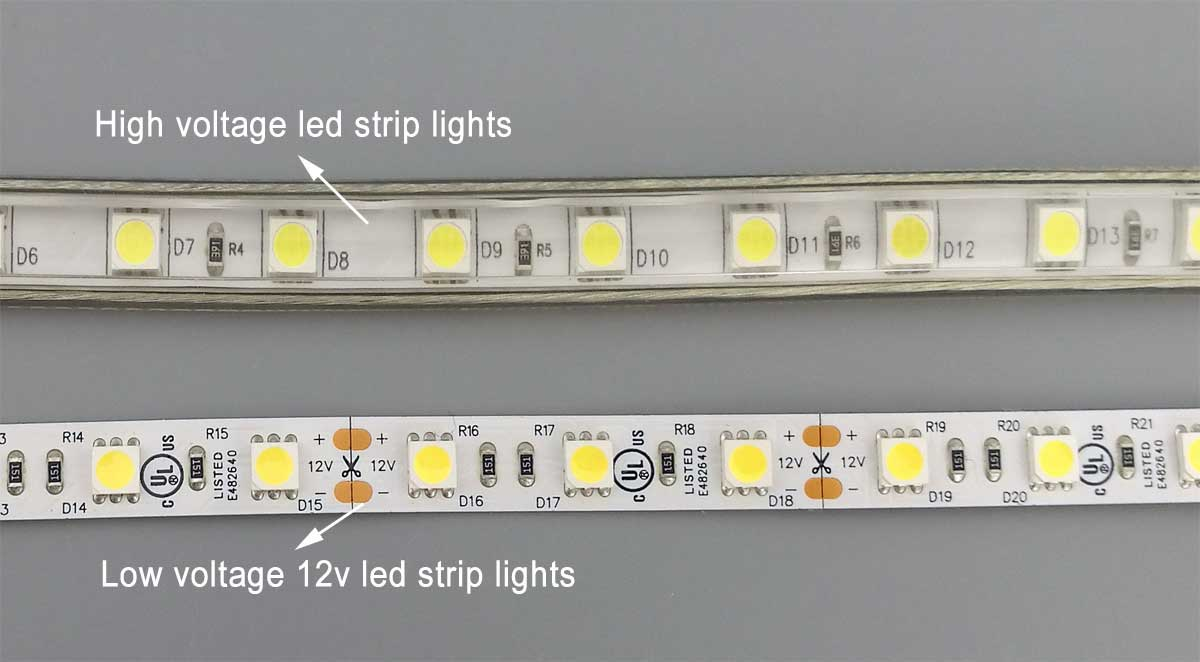 10 Differences Between 110v 240v Led Strip Light And 12v 24v