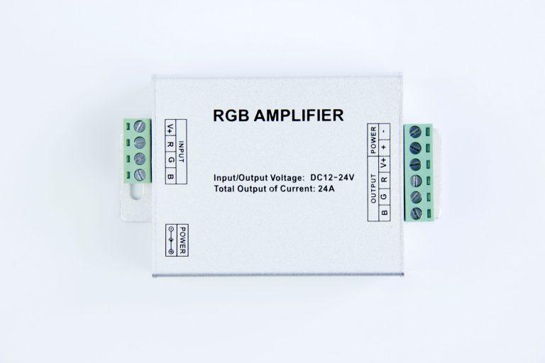 RGB Amplifier (Aluminum version) for 12v rgb led strip light