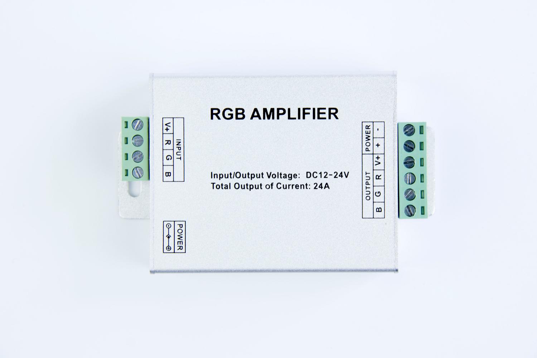 RGB Amplifier (Aluminum version) for 12v rgb led strip light_1