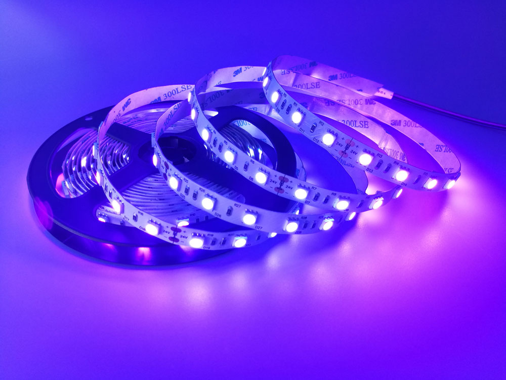 |uv led strip|uv blacklight led strip|uv b led strip|5050 uv led strip|12v uv led strip|395nm uv led strip|_1