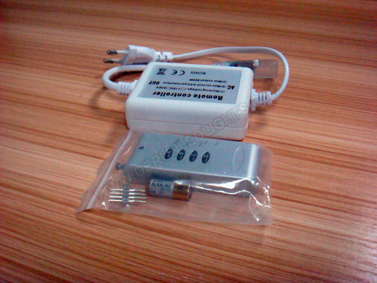 220v rgb led strip light controller with 4 button remote_1