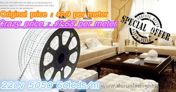Original price :$1.9 per meter On sale price :$1.68 per meter