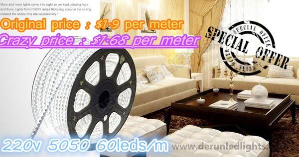 Original price :$1.9 per meter On sale price :$1.68 per meter