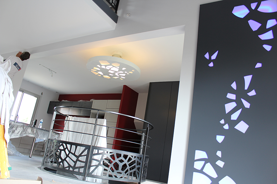 LED Panel and the Strips Light for Indoor Decorating