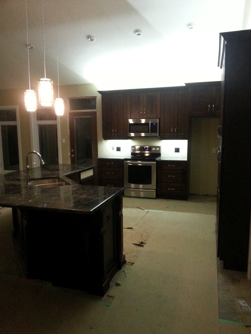 Custom Kitchen Cabinet Lighting with Color Changing Strip Lights