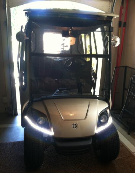 5050 Waterproof LED Strips make this Custom Golf Cart Lighting