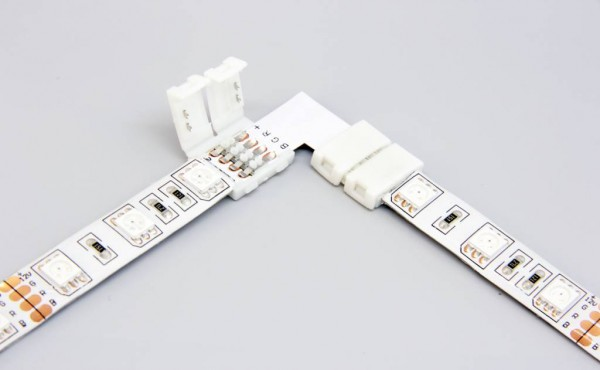 The L corner connector with led strip light