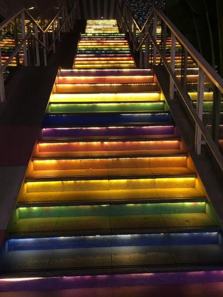 LED Light Decorating the Shenzhen North Station