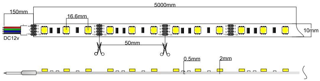 5050 rgb led strip light 12V