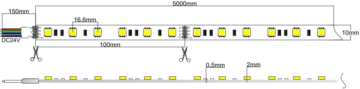 5050 rgb led strip light 24v