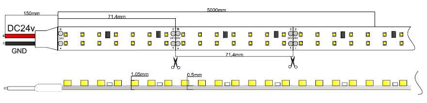 double row high output led strip light