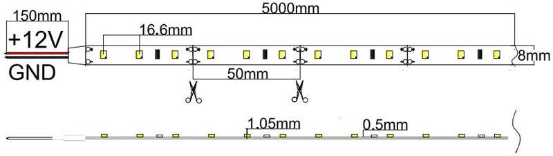 Flexible Led Strip Light With 16 4 50w 300 Diodes 2835
