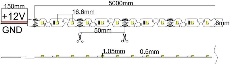 2835-60-12-w led strip dimension