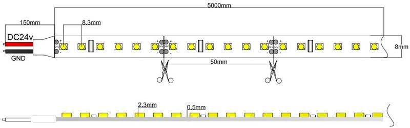 3528-120-24-w led strip dimension