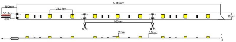 5050-30-12-w led strip dimension