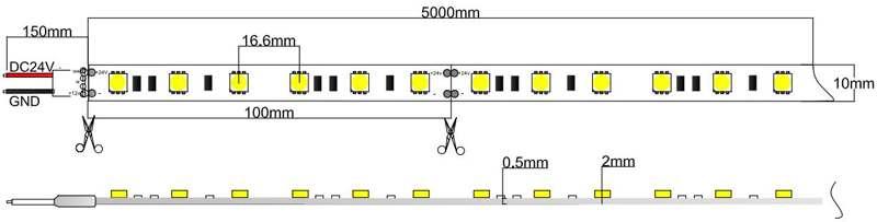 5050-60-24-w led strip dimension