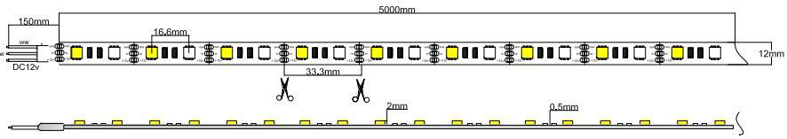 cct adjustable led strip light