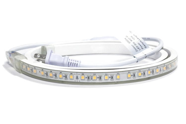 ETL Certified AC Voltage LED Strip Light 8LEDs/10cm Cuttable CRI90 Frosted & Clear Surface_1